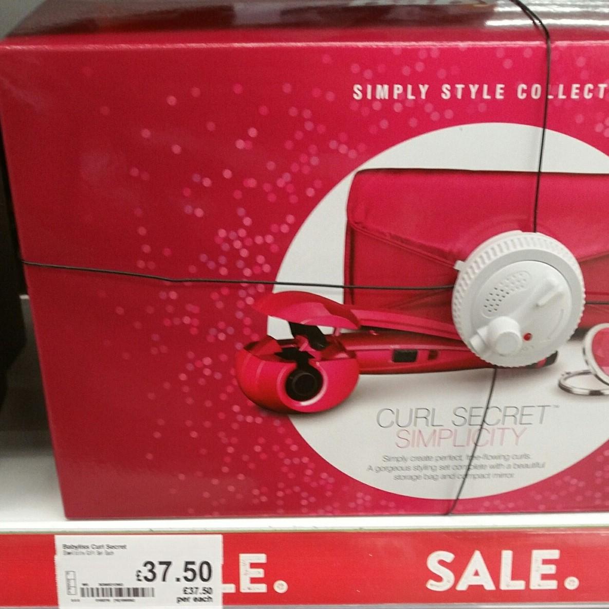 Babyliss Curl Secret Gift set  £37.50 instore @ Asda