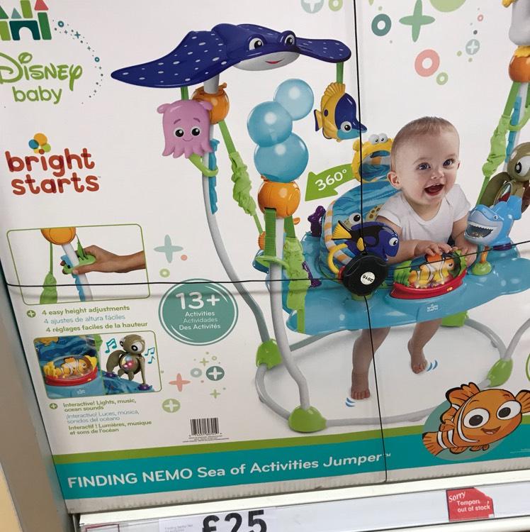 Bright starts Disney baby, Finding nemo sea activities jumper - £25 instore @ Tesco (Pitsea)