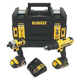 DeWalt  18V  Cordless Combi Drill & Impact Driver Twin Pack £149.99 @ Screwfix - 2 Batteries, charger and kitbox included