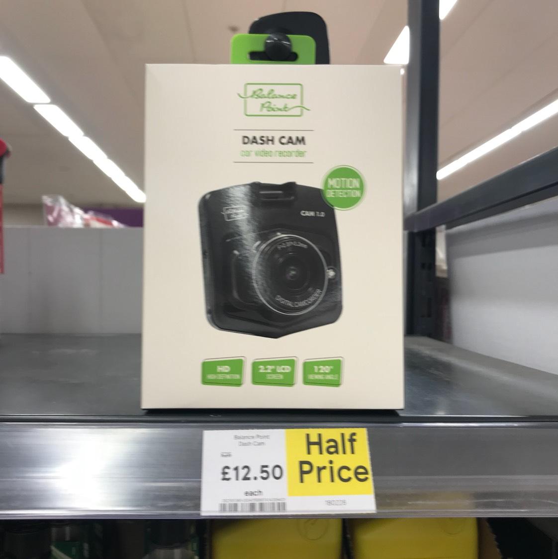 Balance Point Dash cam - £12.50 instore / online @ Tesco Direct