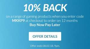 10% back on selected gaming @ very.