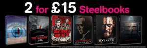 HMV Two Blu-Ray Steelbooks For £15 Online (free del)