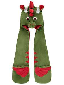 Fleece lined childrens 3D dragon hooded scarf now £4 was £9 @ asdageorge
