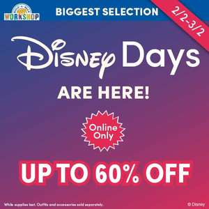 Build a bear up to 60% off on selected Disney Bears Online Only (+£3.99 P+P)