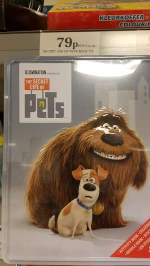The Secret Life of Pets book tin, 79p instore @ Home Bargains
