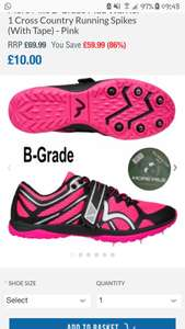 More Mile B-Grade Mud Warrior 1 Cross Country Running Spikes (With Tape) - Blue and pink all sizes £10 plus £4.95 postage at Start Fitness