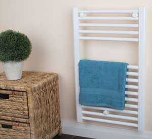 Bathroom Towel Radiator White - H 730 X W 450mm - £18.99 delivered @ Brooklyn Trading