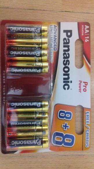 Lidl AA and AAA Panasonic Pro Batteries 16 Pack - £3.99