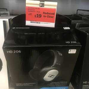 Sennheiser HD206 Around-Ear Headphones - £19 @ Sainsbury's instore (Chelmsford)