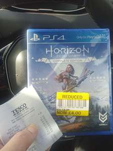 Horizon Zero Dawn  - Complete Edition- £4 @ Tesco Merthyr Tydfil (Possibly Nationwide)