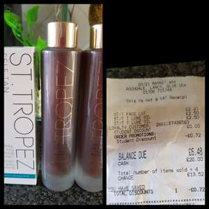 St Tropez luxery oil & st Tropez face lotion  - £2.50 instore @ Superdrug (Rochdale)