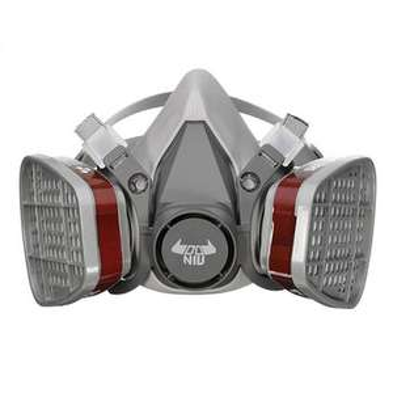 Double Gas Mask Protection Filter Chemical Half Face Respirator Mask @ Banggood - £7.20