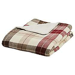 Red checked sherpa Throw at Tesco Direct £10