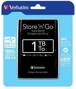 Verbatim Store & Go 1TB Portable HD - £42.99 @ Ebuyer