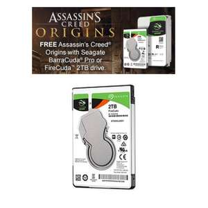 Seagate FireCuda Laptop 2TB + Free digital copy of Assassin's Creed Origins [PC] £79.30 @ Ebuyer