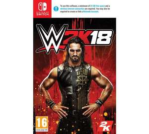 WWE 2K18 Nintendo Switch Game at Argos for £21.99