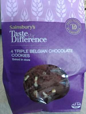Sainsburys Taste the Difference cookies £1.20 reduced from £1.50 at Sainsburys Colne