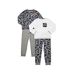 2 pair pack of camo & plain pyjamas age 6-7 years £3 was £9 @ tesco direct