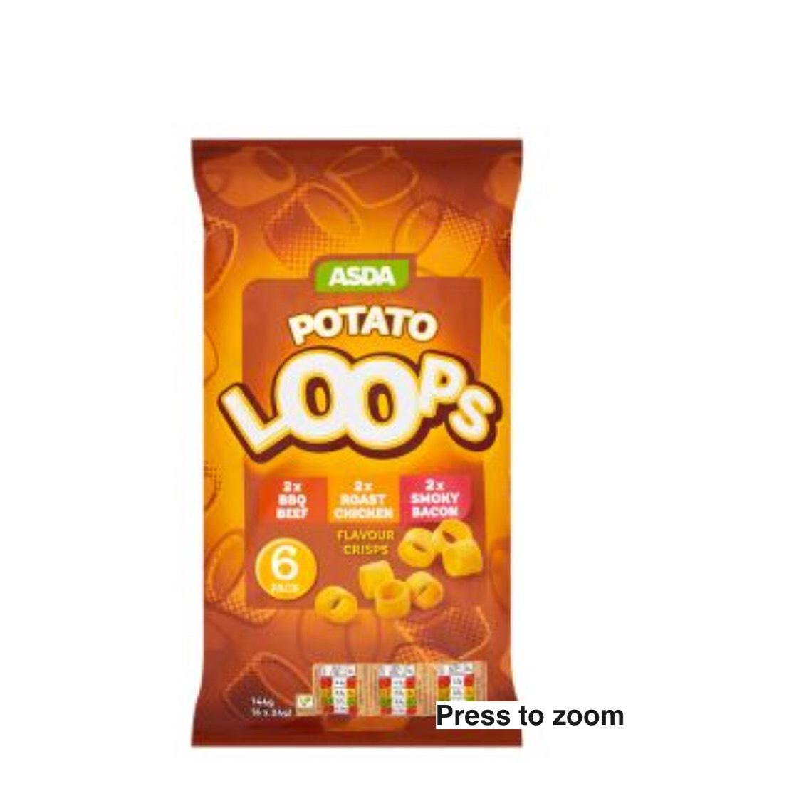 Asda potato loops 6 pack 43p