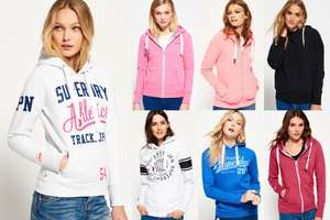 New Womens Superdry Hoodies Selection - Various Styles & Colours £15.99 @ Ebay Superdry