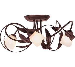Elana semi flush antique- effect frosted glass light fitting £15.99 was £32.99 @ Argos