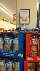 Jacob's Baked Crinklys 7 pack only 39p instore @ Heron Foods