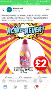 Comfort strawberry & Lilly 57 washes - £2 @ PoundLand