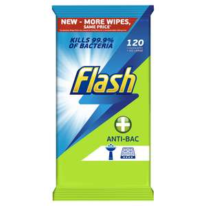 Flash All purpose wipes 120 pack half price £1.50 @ Asda