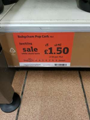 Babycham 75cl - instore at Sainsbury's  5.5% £1.50 (Worcester)