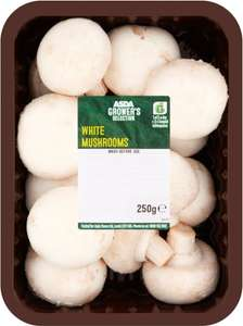 ASDA Grower's Selection White Mushrooms 250g Rollback now 50p @ Asda