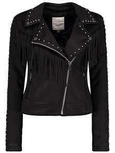 Faux suede ladies studded biker jacket now £20 from £35 @ asdageorge ONLINE only