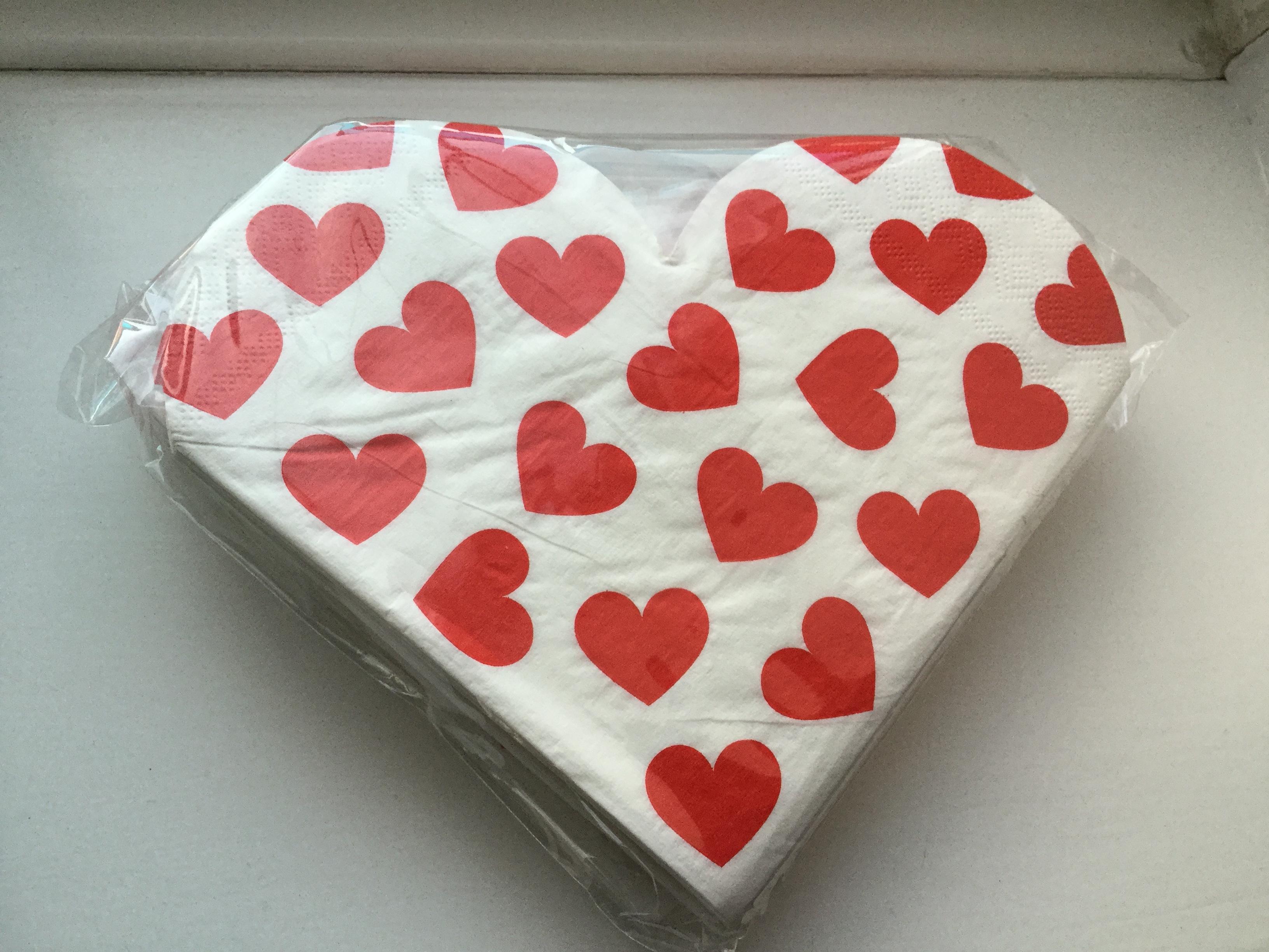 Valentine napkins £1 instore @ Poundland