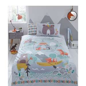 Bluezoo Lets Go Camping Double Bedding Set - £10.20 for Prime Members / £14.59 for Non-Prime - Sold by Debenhams via Amazon