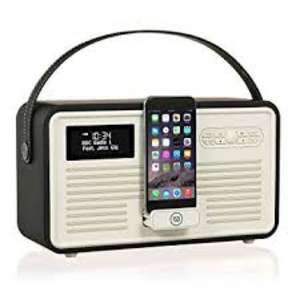 VQ Retro Mk II Portable DAB+/FM Bluetooth Clock Radio - Black - £95 @ Currys