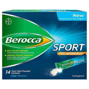 Berocca Sport fast melt sachets pack of 14 for £1 @ Morrisons