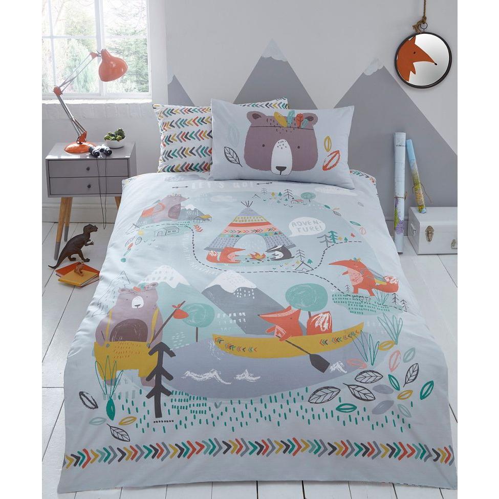 bluezoo - Multicoloured printed 'Let s Go Camping' bedding set £6.90 @ debenhams