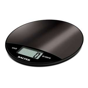 Salter Metallic Digital Kitchen Scale - Black - £8 Sainsbury's instore