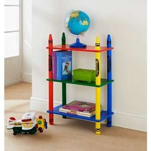 Crayola furniture reduced Instore at B&M. Shelf bookcase was £14.99 now £9.99. Loads more in description