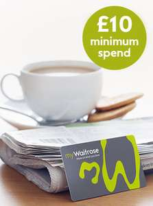 Free cup of tea or coffee and a free newspaper at Waitrose (£10 min spend)