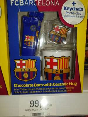 Barcelona gift boxed mug,chocolate bars and keychain 99p @ Home bargains