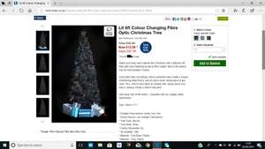 Lit 6ft Colour Changing Fibre Optic Christmas Tree £12.99 / £17.99 delivered @ Studio