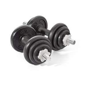 York Fitness Cast Iron Dumbbell Spinlock Set (Pack of 2) - Black, 20 Kg £30.99 delivered. Dispatched from and sold by Amazon