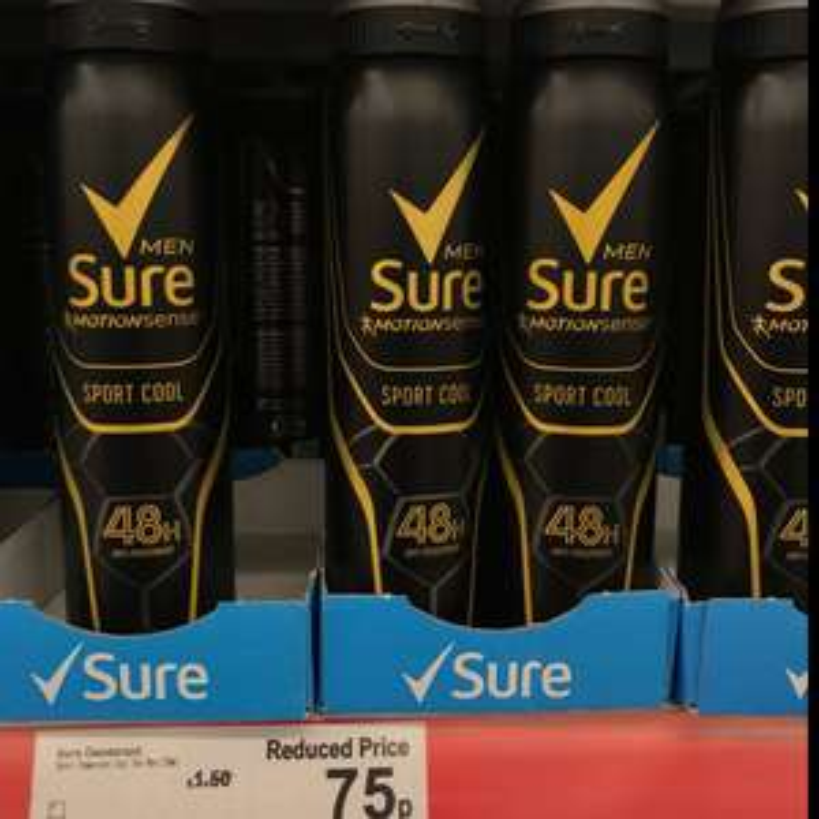 Sure Men's 250ml Sports Cool Anti Perspirant - in store 75p @ Asda