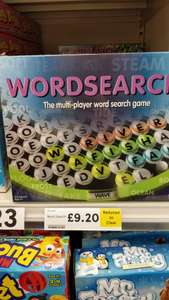 Wordsearch board game £9.20 Tesco in-store