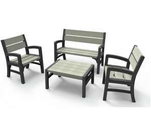 Keter Montero 4-Piece Wood-Effect Lounge Set £155 Delivered (poss less with free delivery code/new customer code) @ Studio