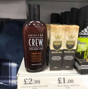 American crew liquid wax 150ml £2.99! Home bargains