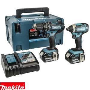 Makita DLX2131J 18V Li-ion LXT Combi and Impact Twin Pack With 2 x 3Ah Batteries £219 @ Uk planet tools