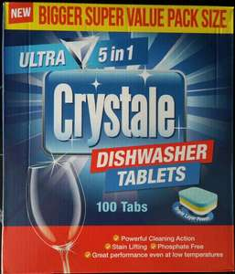100 crystale 5in1 dishwasher tablets £5 in poundland