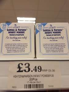Ashton & Parsons Teething Powder - £3.49 at Home Bargains
