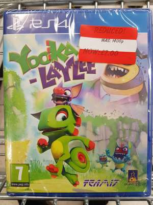 Yooka-Laylee PS4 Only £7 @ Asda Instore (Linwood)